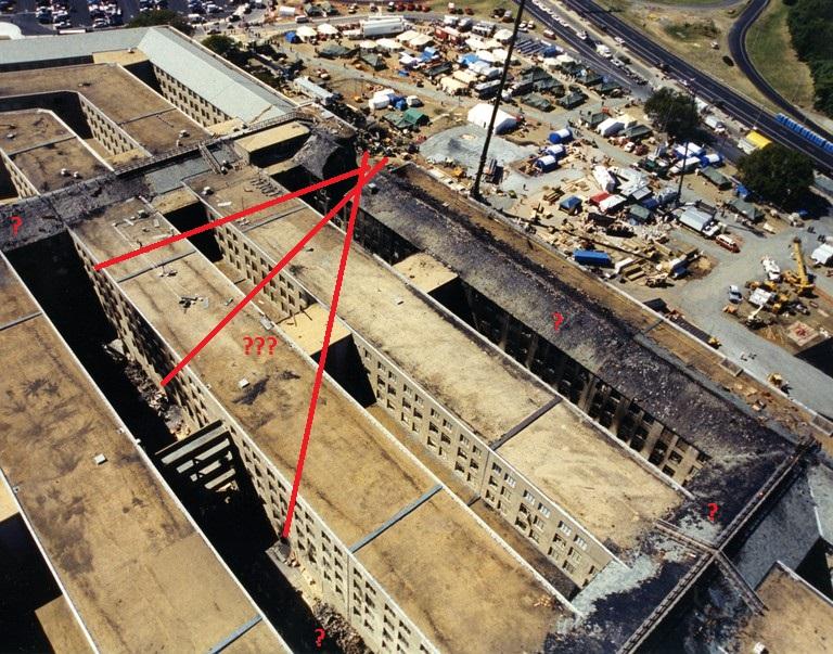 9-11 Pentagon Overhead Fragezeichen